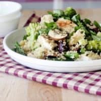 Basil Lemon Chicken, Quinoa Salad