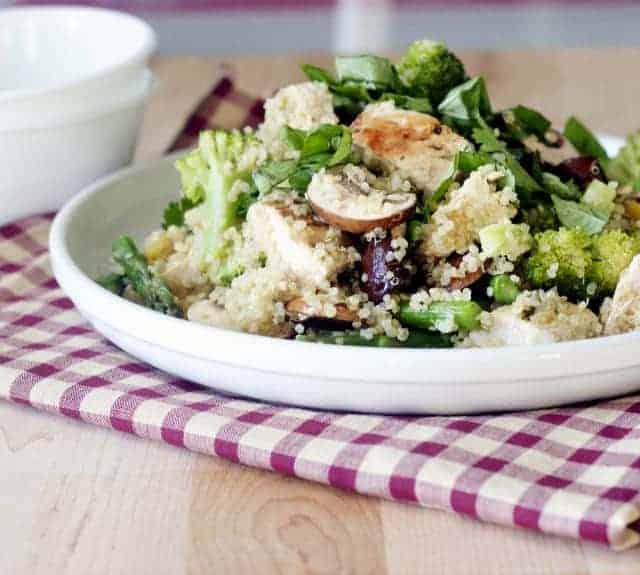 basil lemon chicken quinoa salad