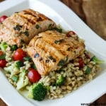 Lemongrass Salmon with Barley Salad