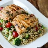 Lemongrass Salmon with Barley Salad
