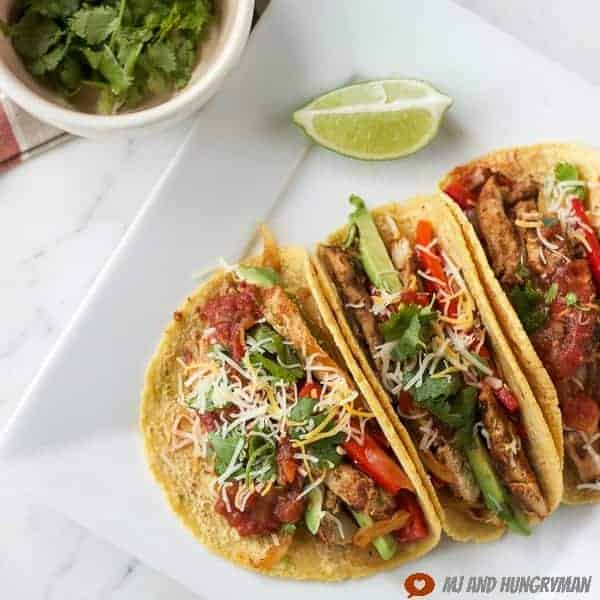 chipotle marinated chicken tacos