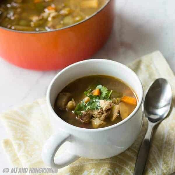 Chipotle Marinated Chicken Soup