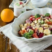 Summer Salad with Honey Orange Dressing