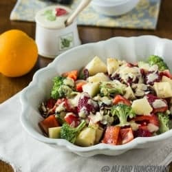 Summer Salad with Honey Orange Dressing