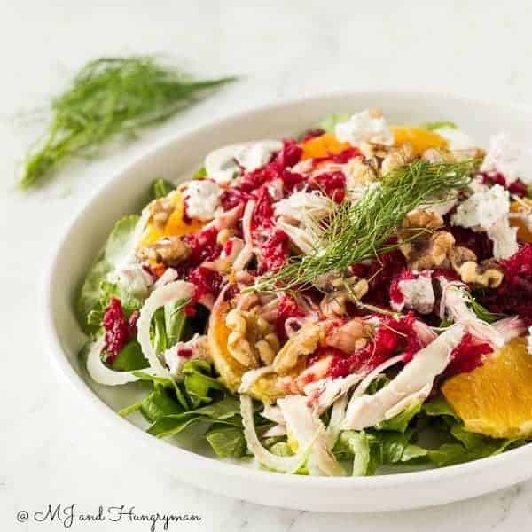 Chicken Orange Arugula Salad