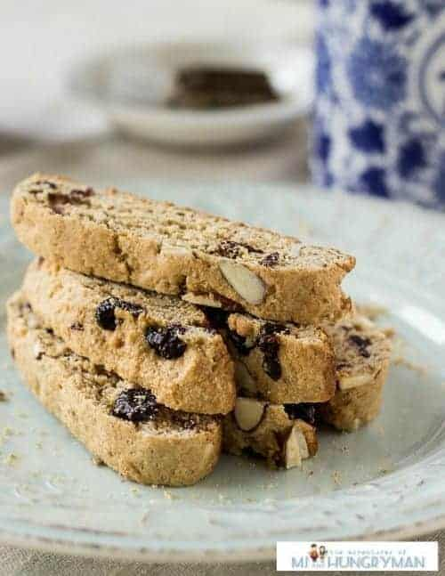 Almond Blueberry Biscotti