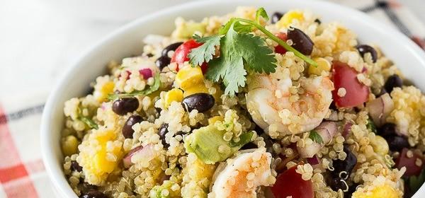 Mango Quinoa Salad w/Shrimp