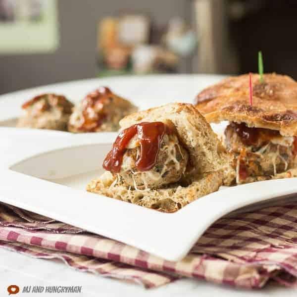 Italian Turkey Meatball Sliders - The Adventures of MJ and Hungryman