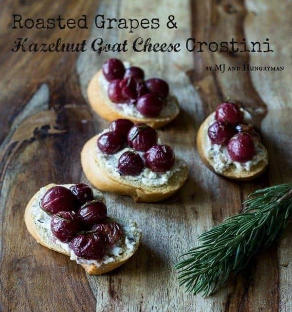 Roasted Grapes & Hazelnut Goat Cheese