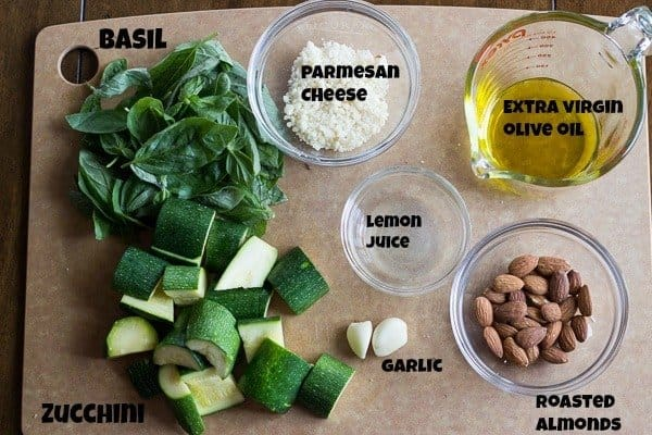 Zucchini Basil Pesto Ingredients