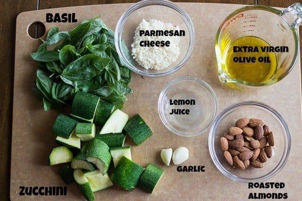 Zucchini Basil Pesto Ingredients