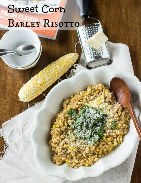 Sweet Corn Barley Risotto