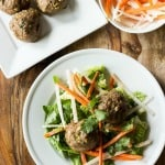 Banh Mi Salad w/ Turkey Meatballs