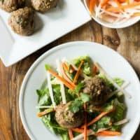 Banh Mi Salad w/ Turkey Meatballs