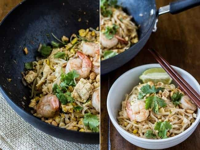 Shrimp and Tofu Pad Thai - The Adventures of MJ and Hungryman