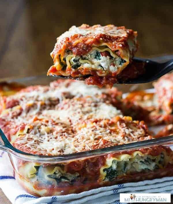 Vegetarian Lasagna Roll-Ups