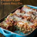 Pumpkin and Kale Lasagna Roll-Ups