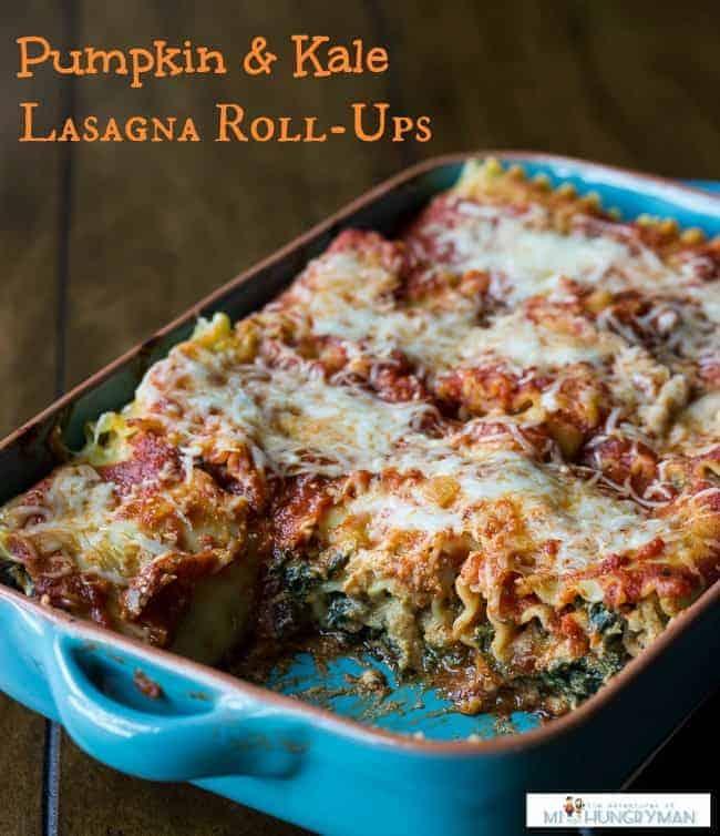 Pumpkin & Kale Lasagna Roll-Ups