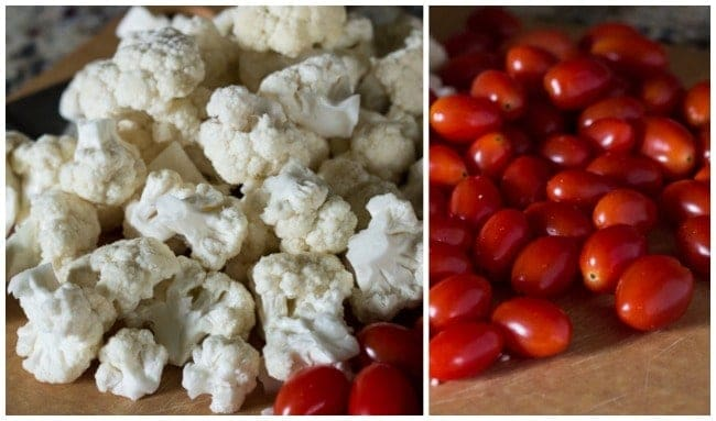 Cauliflower and tomatoes