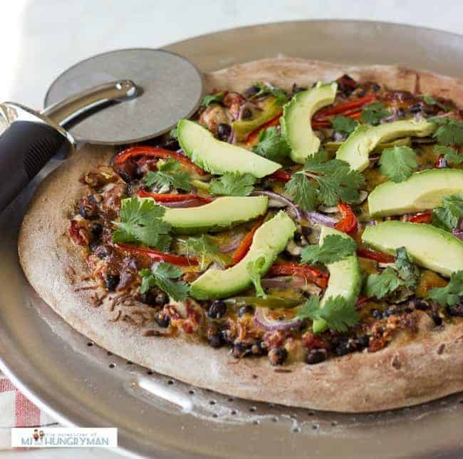 Healthy Vegetarian Mexican Pizza | 10 Easy Healthy Recipes To Make Your Diet Effortless