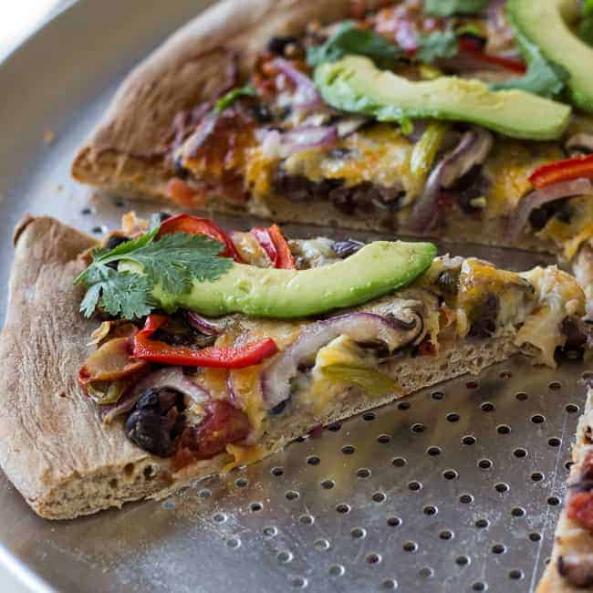 Healthy Vegetarian Mexican Pizza