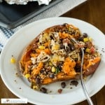 Loaded Southwestern Quinoa Sweetpotatoes
