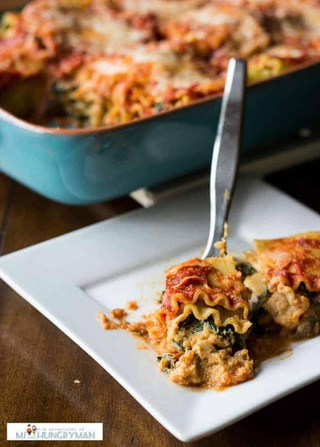 Pumpkin Kale Lasagna Roll-Ups
