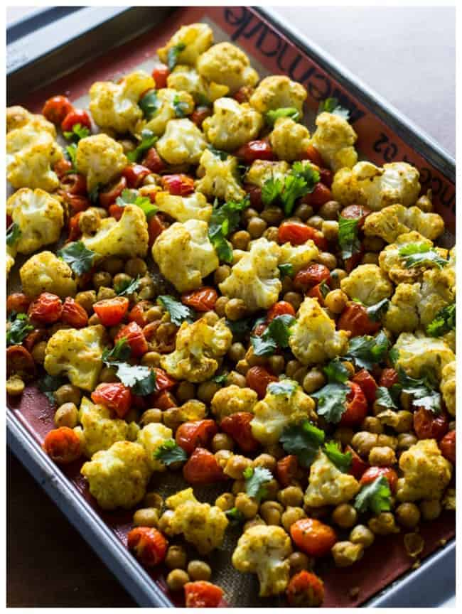 Roasted Cauliflower And Tomatoes Recipe — Dishmaps
