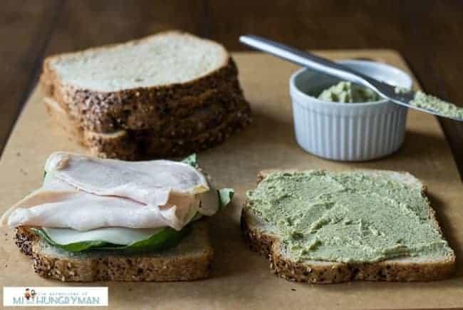 Chicken Sandwich w/ Artichoke Basil Spread