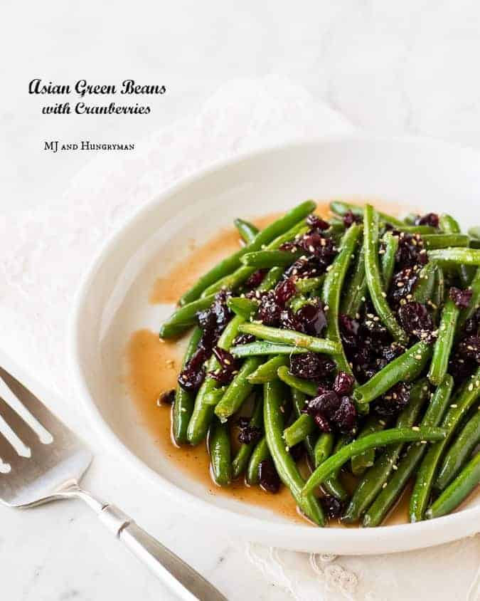 Asian Green Beans with Cranberries