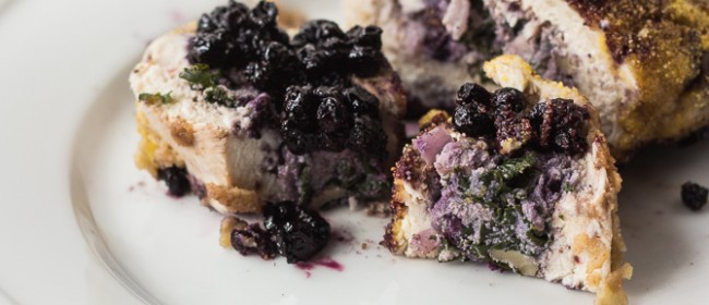 Wild Blueberry and Kale Stuffed Chicken Breast