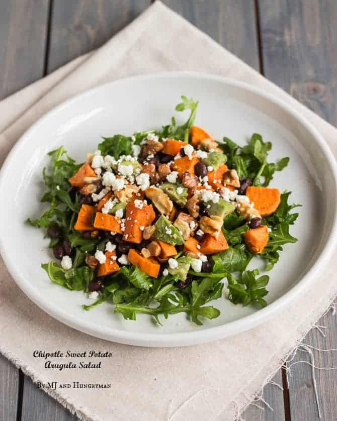 Chipotle Sweet Potato Arugula Salad