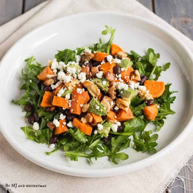 Chipotle Sweet Potato Arugula Salad