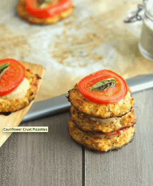 Cauliflower Crust Pizzetes