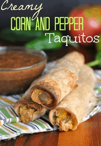 corn and pepper taquitos