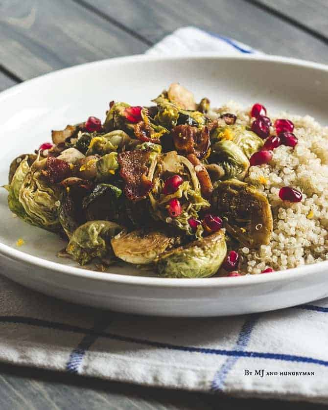 Brussel Sprouts with Bacon and Pomegranate