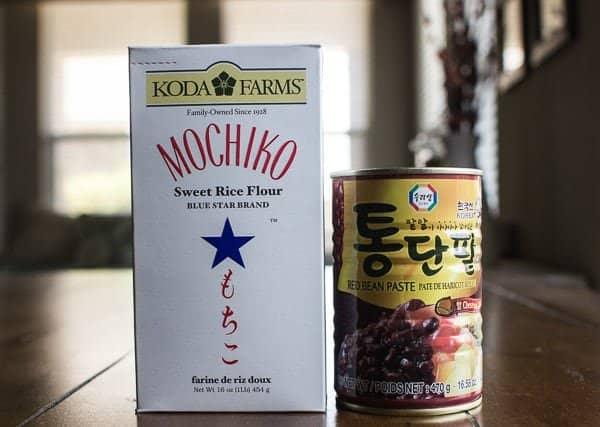 Korean Red Bean Mochi Cake