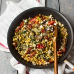 Corn, Tomato and Zucchini Salad with Basil Oil