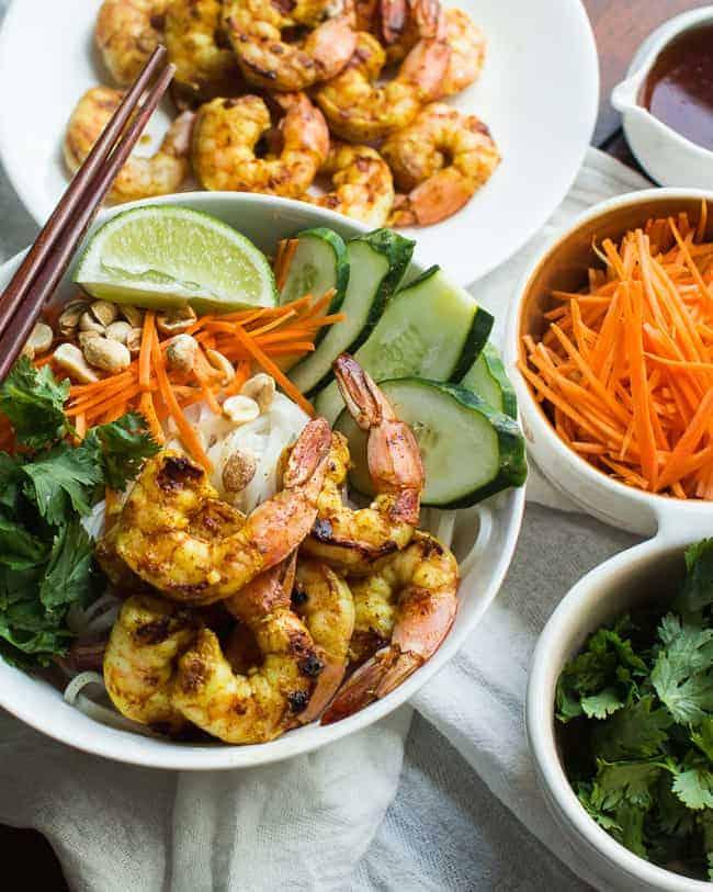 Vietnamese BBQ Shrimp Noodle Bowl