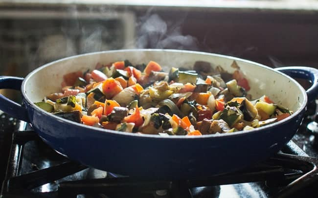 Ratatouille with Poached Eggs