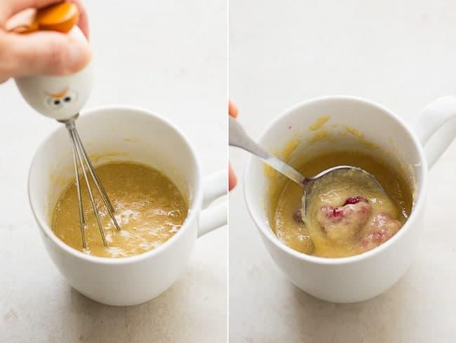 Raspberry Almond Mug Cake
