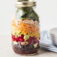 Southwestern Salad in Mason Jar