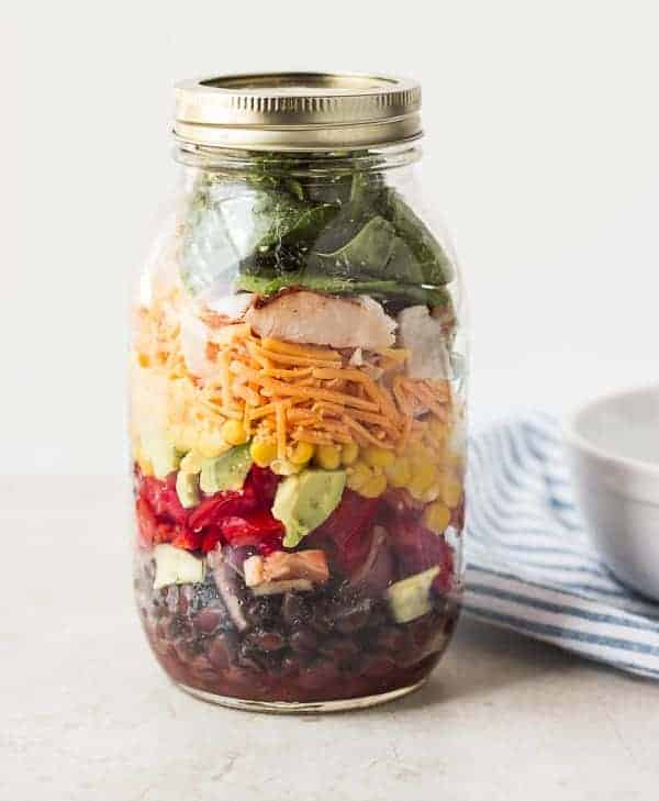 Southwestern Salad in Mason Jar
