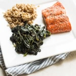 CSA Weekly Meals #5 and Sweet Potato Greens with Grilled Salmon
