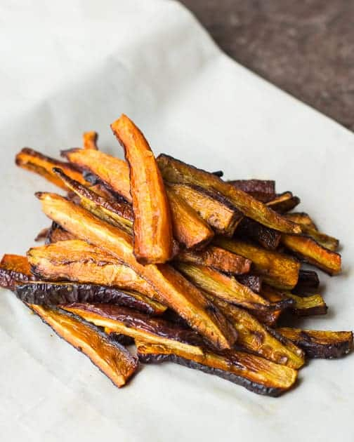 Baked Carrot and Zucchini Fries