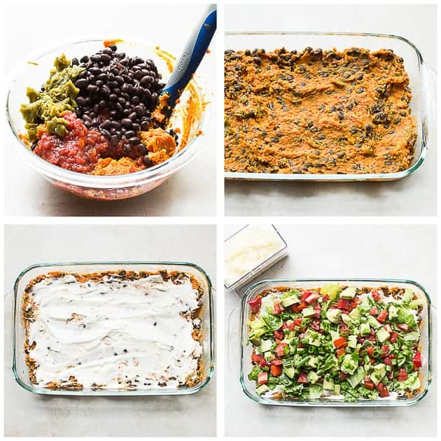 Easy Layered Dip with Sweet Potatoes