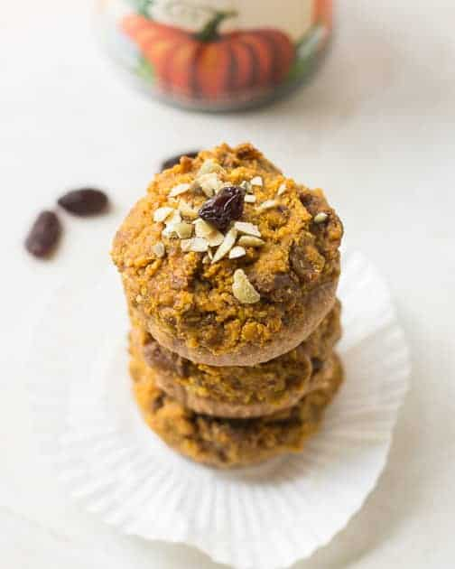 Pumpkin and Raisin Peanut Butter Cups