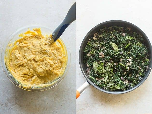 Vegetarian Pumpkin and Kale Pasta Bake