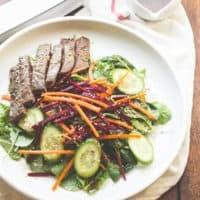 Asian Steak Salad with Sesame Lime Vinaigrette