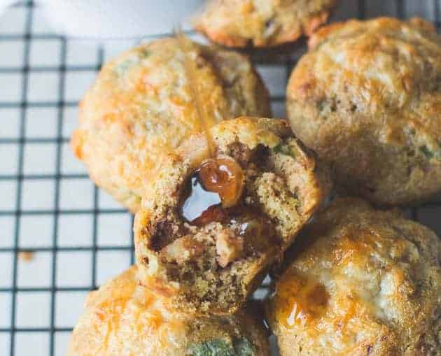 Breakfast Cornbread Muffins with Caramelized Ambrosia Apples